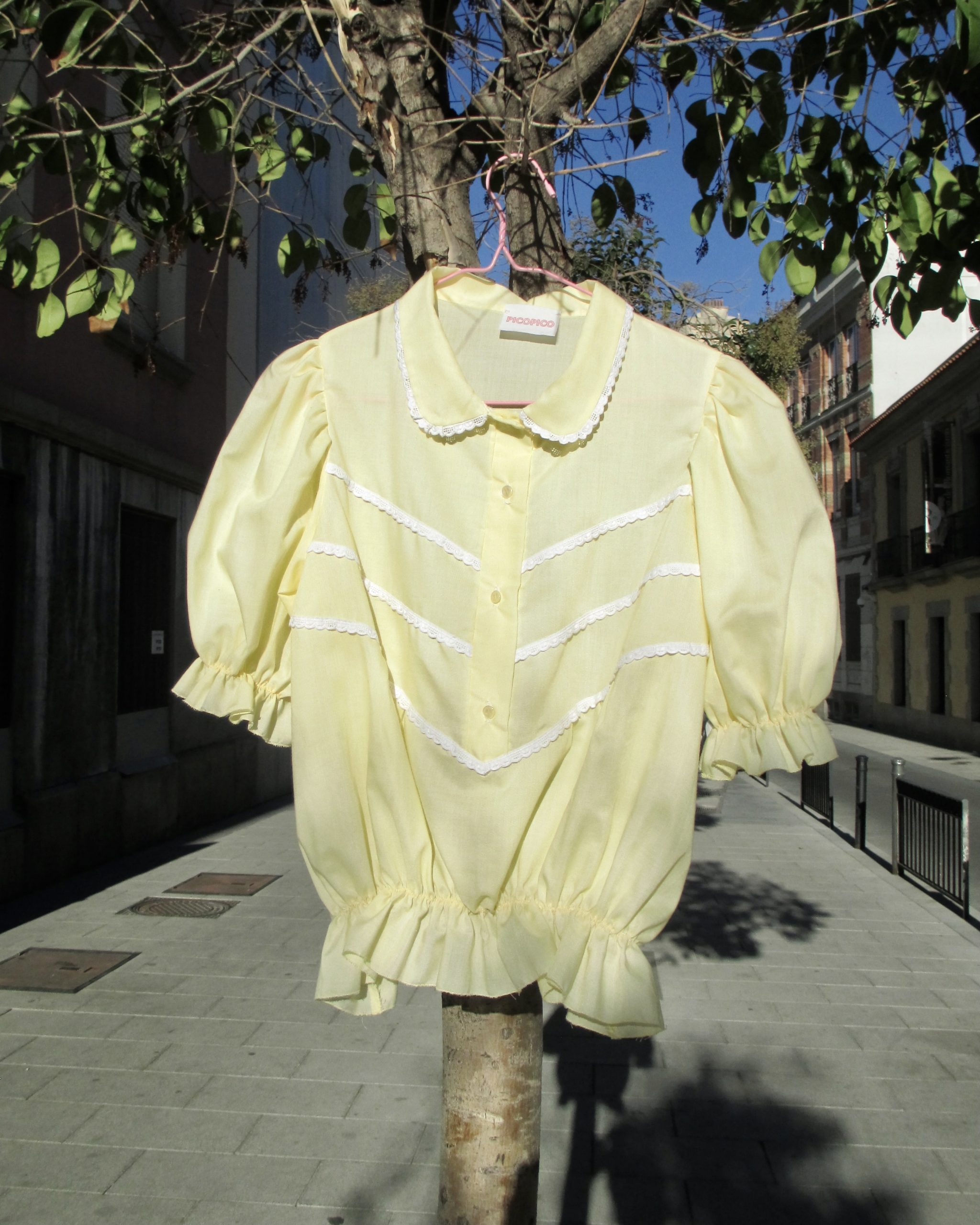 Blusa Upcycled Yellow